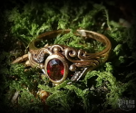 Ring with crystal Sina - bronze