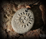 Pendant Triskel - lava stone