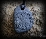 Pendant Yggdrasil - lava stone