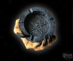 Popelník Pařát s pentagramem