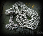 Pendant Thor's hammer Søren with chain - 316L