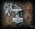 Pendant Thor's hammer Thorthal with chain - 316L