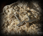 Hook earrings Thor's hammer Frábær - 925 sterling silver