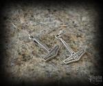 Hook earrings Thor's hammer Frábær - 925 sterling silver