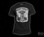 Triko Ancient Bequest černé s bílým potiskem