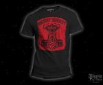 Triko Ancient Bequest černé s červeným potiskem