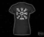 Dámské triko Vegvisir - bílý potisk