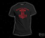 Triko Heidnischer Krieger černé - červený potisk