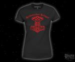 Dámské triko Heidnischer Krieger s červeným potiskem