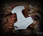 Pendant Thor's hammer Gnupa - bone