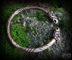 Bracelet Hugin and Munin - bronze