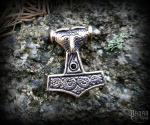 Pendant Thor's hammer Scania - bronze