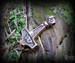 Pendant Thor's hammer Berzerk - bronze