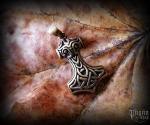 Pendant Thor's hammer kladivo Skarú - bronze