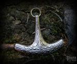 Pendant Thor's hammer Icon - bronze