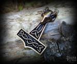 Přívěsek Thorovo kladivo Vaedderen - bronz