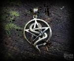Pendant Pentagram Snake - bronze