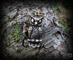 Pendant Owl Capone - bronze