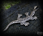 Pendant Lizard Lilly - bronze