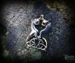 Přívěsek Vlci Geri a Freki - bronz