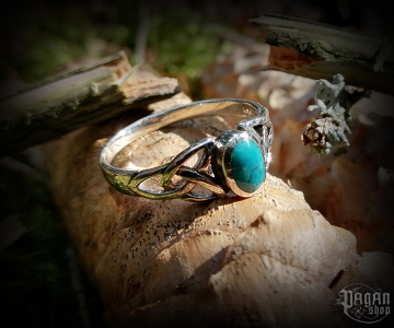 Ring with turquoise Layla - 925 sterling silver