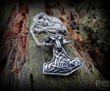 Pendant Thor's hammer Widar with chain - 316L