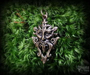 Pendant Green Man Marvin - bronze