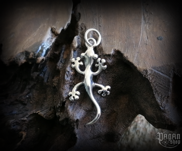 Pendant Gecko Ruby - 925 sterling silver