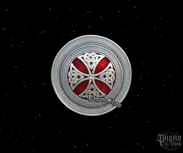 Belt buckle Celtic shield Dhearg