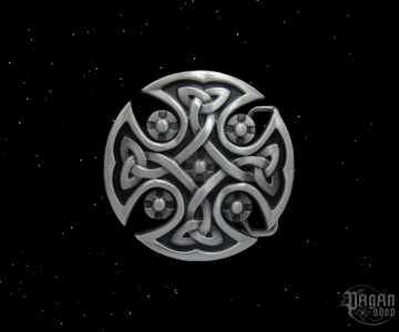 Belt buckle Celtic cross Sciath