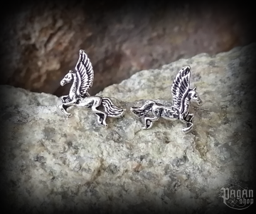 Stud earrings Horse Pegasus - 925 sterling silver