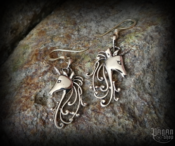 Hook earrings Unicorn Nimo - bronze