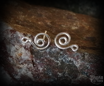 Stud earrings Spiral Alia - 925 sterling silver