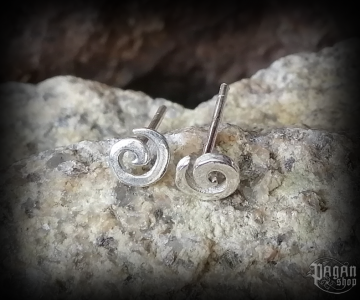 Stud earrings Spiral Amora - 925 sterling silver
