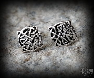 Stud earrings Celtic Merlons - 925 sterling silver