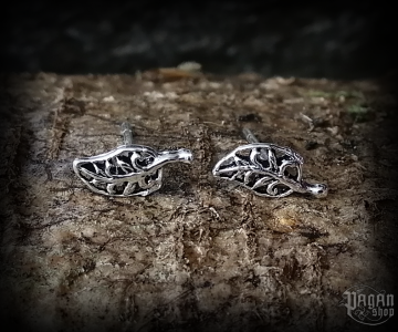 Stud earrings Leaf Grace - 925 sterling silver