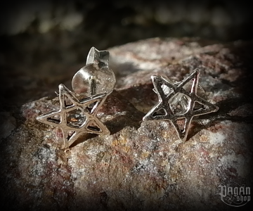 Stud earrings Pentagram Iska - 925 sterling silver