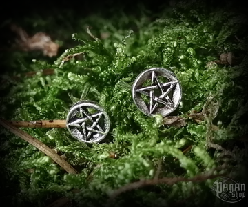 Stud earrings Pentagram Rica - 925 sterling silver