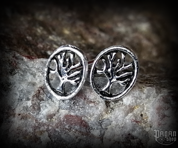 Stud earrings Tree Leah - 925 sterling silver