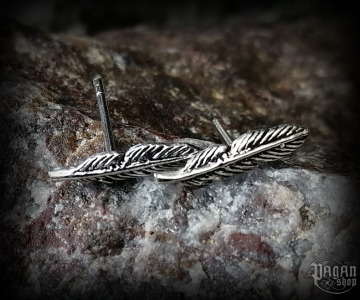 Stud earrings Feather Kiana - 925 sterling silver