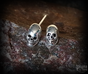 Stud earrings Skull Dauda - 925 sterling silver