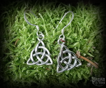 Hook earrings Triquetra Daibhi - 925 sterling silver
