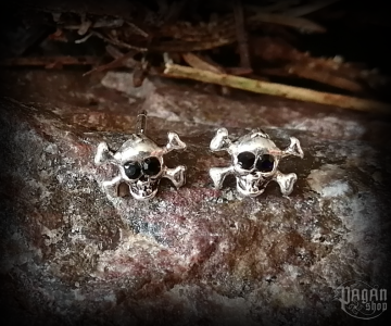 Stud earrings Skull Hadden - 925 sterling silver