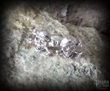 Stud earrings Skull Barlow - 925 sterling silver