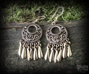 Hook earrings Viking Jora - bronze