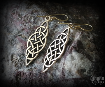 Hook earrings Celtic Fionnuir - bronze