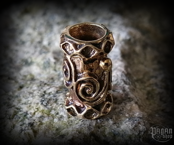 Beard bead Celtic Dwalin - bronze