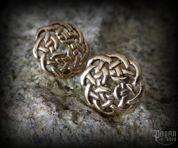 Stud earrings Celtic Dana - bronze
