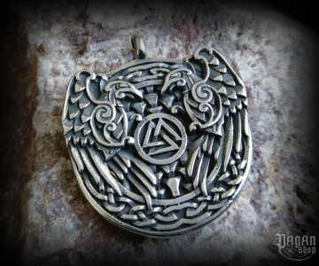 Pendant Valknut Hugin and Munin - 316L