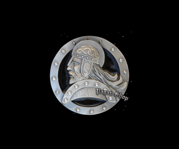 Belt buckle Viking shield